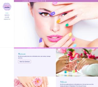 Salon website design for Bright Nails Salon