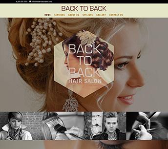 Back to Back Hair Salon's website design