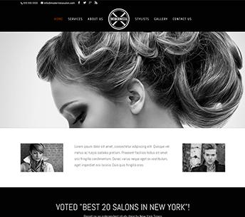 Modernista Salon website home page design